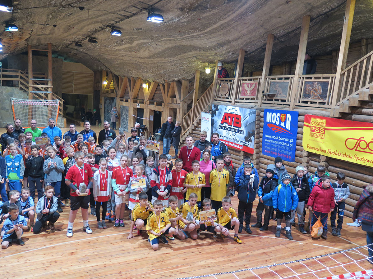 II Noworoczny Turniej Piłki Ręcznej Dzieci w Kopalni Soli Bochnia  7.01.2018 r. – zapowiedź