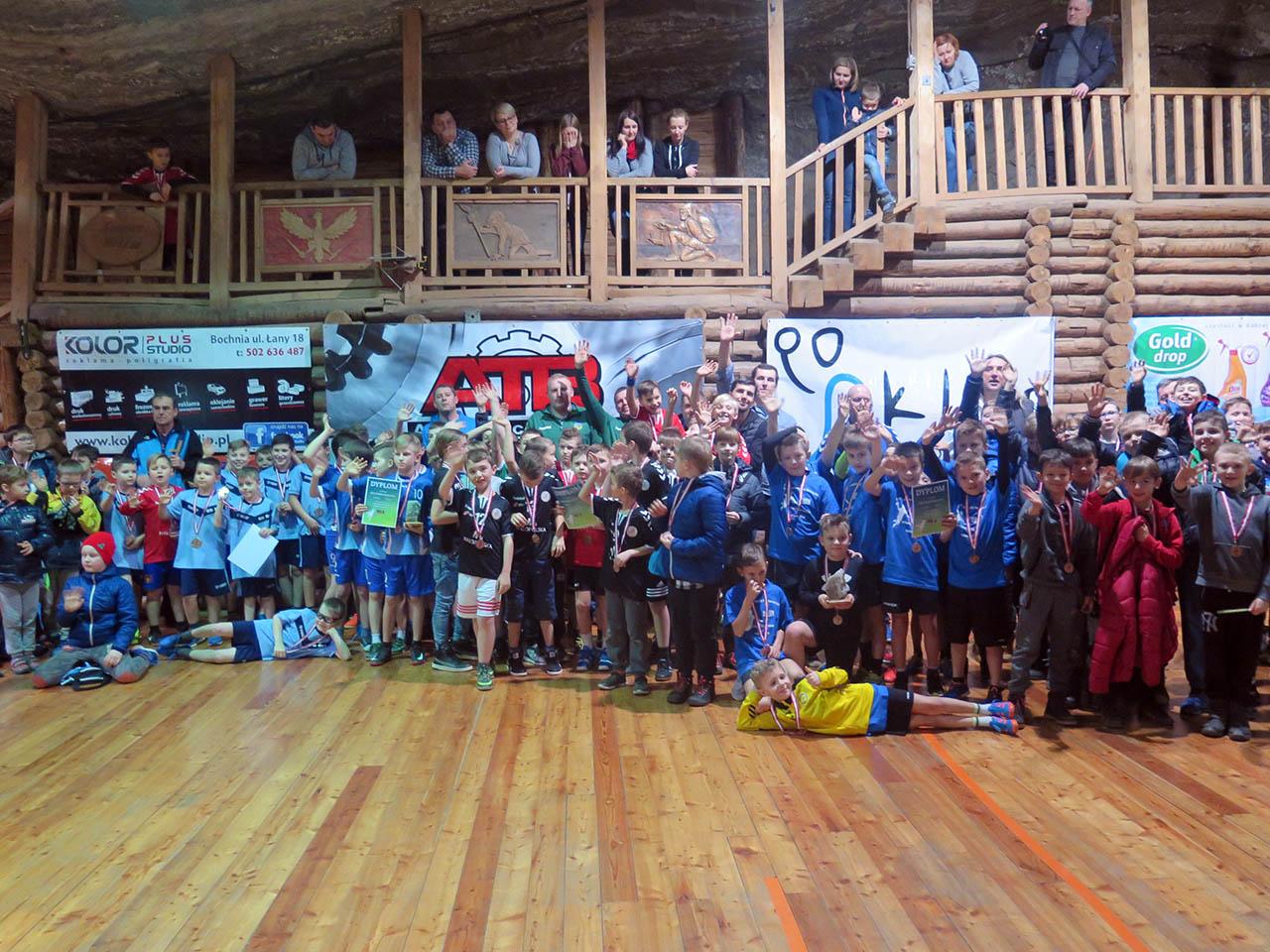 II Noworoczny Turniej Piłki Ręcznej Dzieci w Kopalni Soli Bochnia