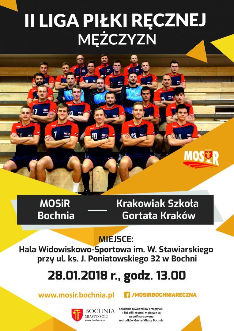 MOSiR Bochnia – Krakowiak Szkoła Gortata Kraków – Zapowiedź