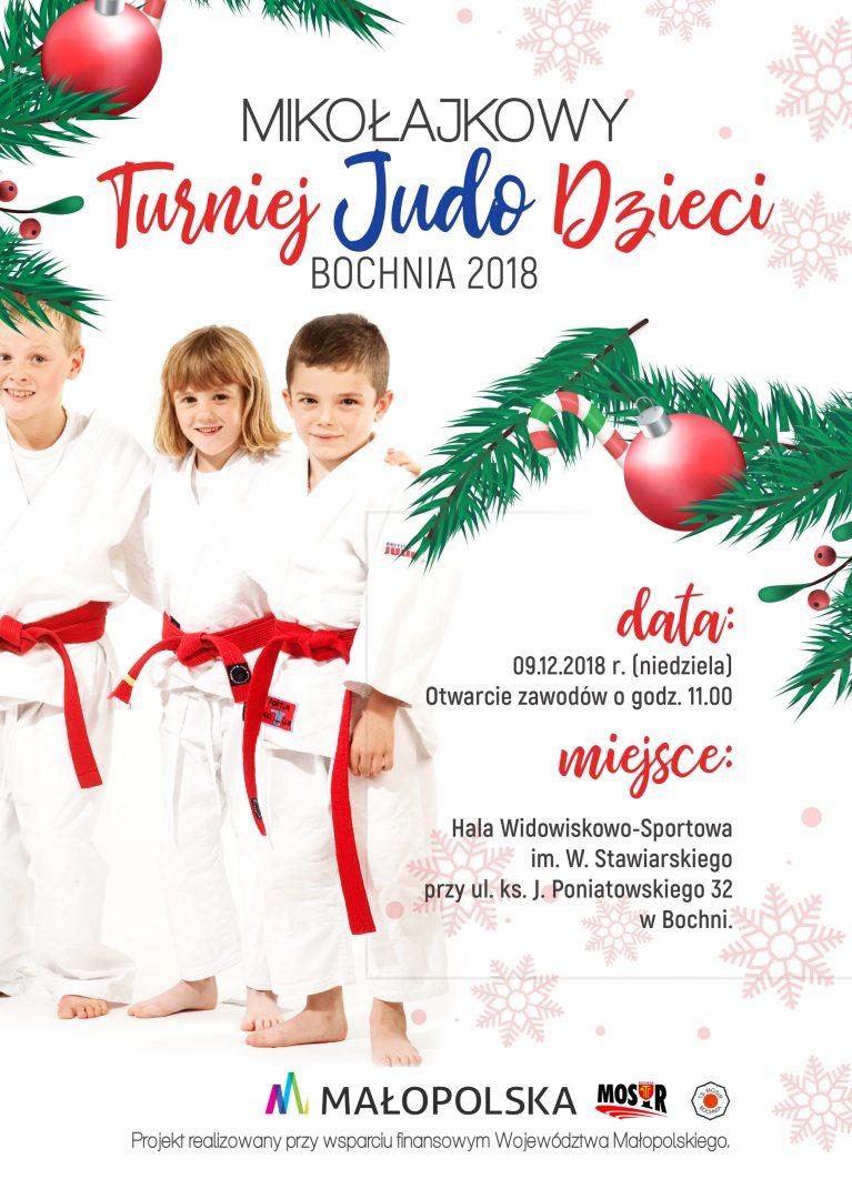 Wielkimi krokami zbliża się Mikołajkowy Turniej Judo Dzieci, Bochnia 09.12.2018!