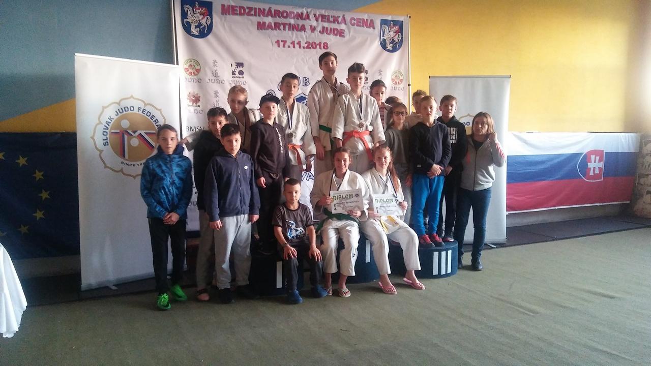 Wspaniałe wyniki bochnian na Turnieju Judo – Martin na Słowacji, 17-18.11.2018 r.