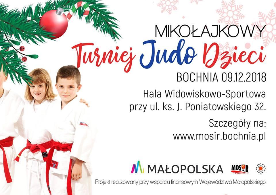 Przed nami Mikołajkowy Turniej Judo Dzieci, Bochnia 09.12.2018!