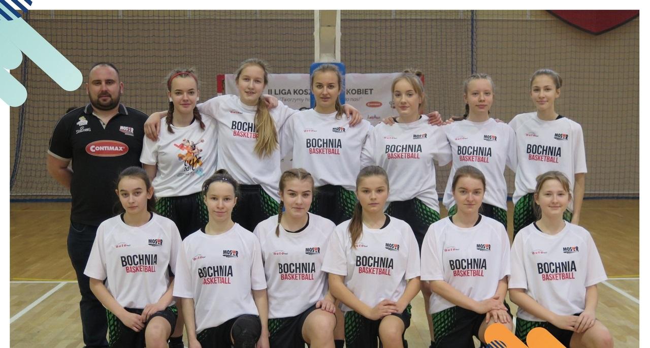 5-7 kwietnia kadetki A MOSiR Bochnia walczyć będą w ćwierćfinałach Mistrzostw Polski w Koszykówce Kobiet U16 w Kartuzach