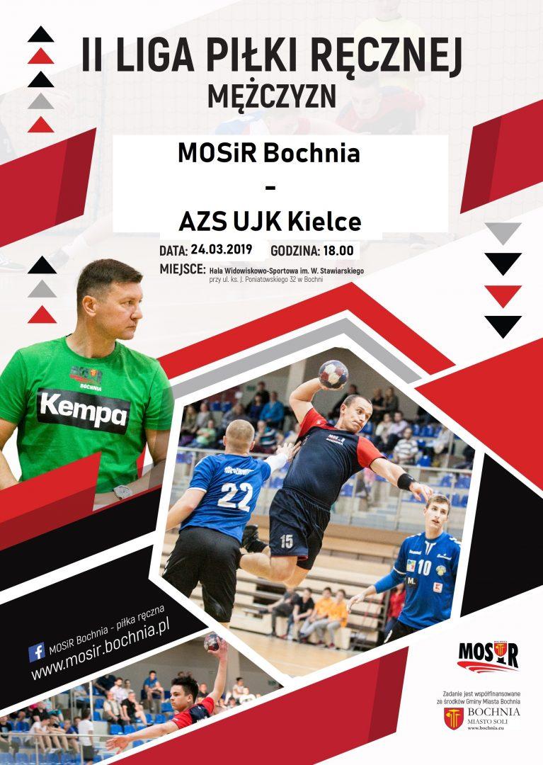 Zapraszamy na mecz II ligi mężczyzn MOSiR Bochnia – AZS UJK Kielce / 24.03.2019 r.