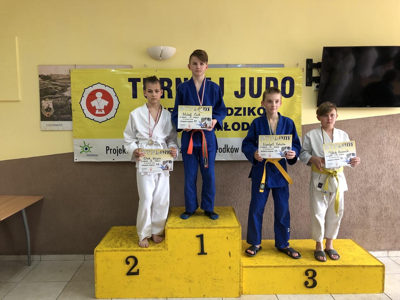 Bochnianie na Turnieju Judo Dzieci i Młodzików w Sosnowcu – 25 medali!