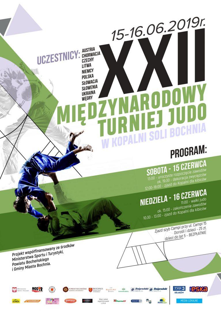 Zapraszamy na XXII Międzynarodowy Turniej Judo w Kopalni Soli Bochnia 15-16.06.2019 r.