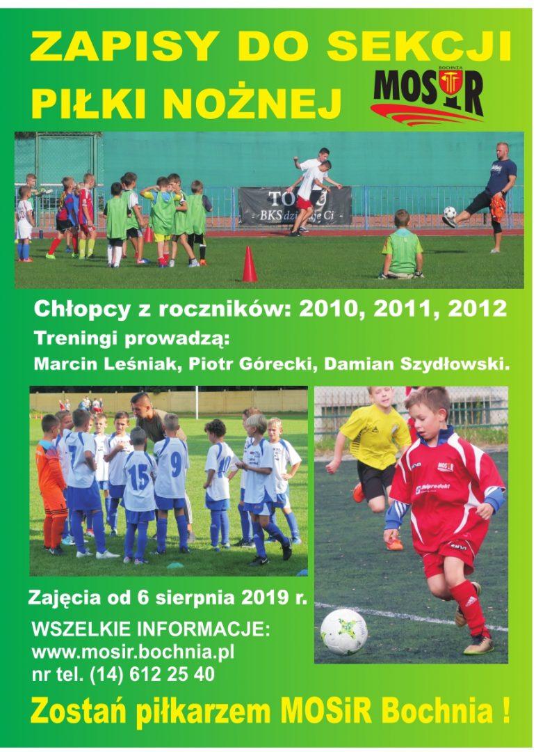 Zapraszamy do sekcji piłki nożnej MOSiR Bochnia!