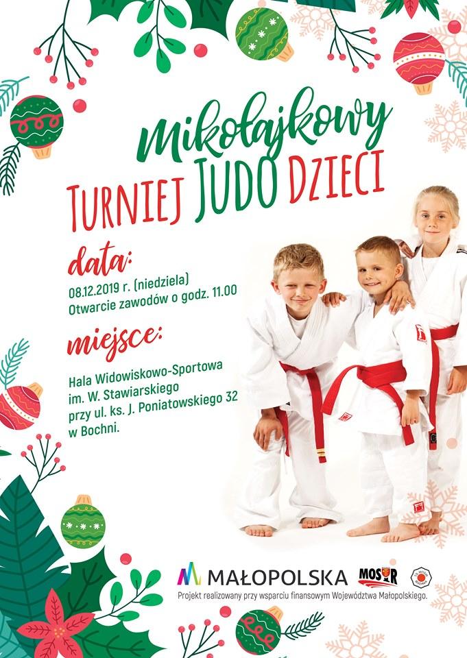 """ZAPRASZAMY na Mikołajkowy Turniej Judo Dzieci """"BOCHNIA 2019"""""""
