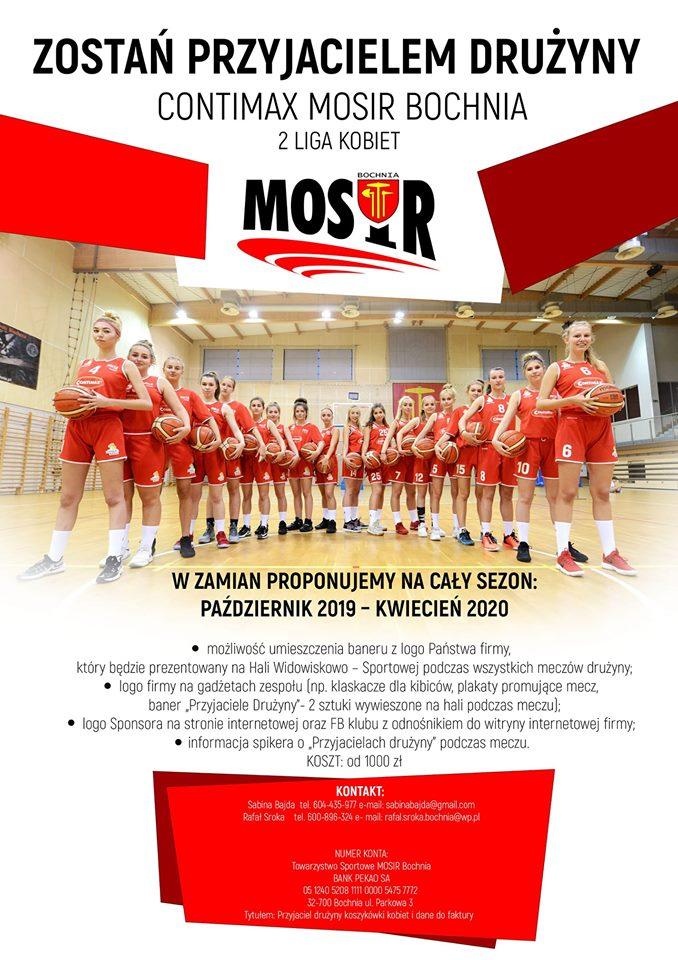 Zostań Przyjacielem drużyny Contimax MOSiR Bochnia!