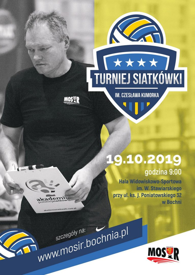 Wkrótce IV Turniej Piłki Siatkowej im. Cz. Kumorka -19.10.2019