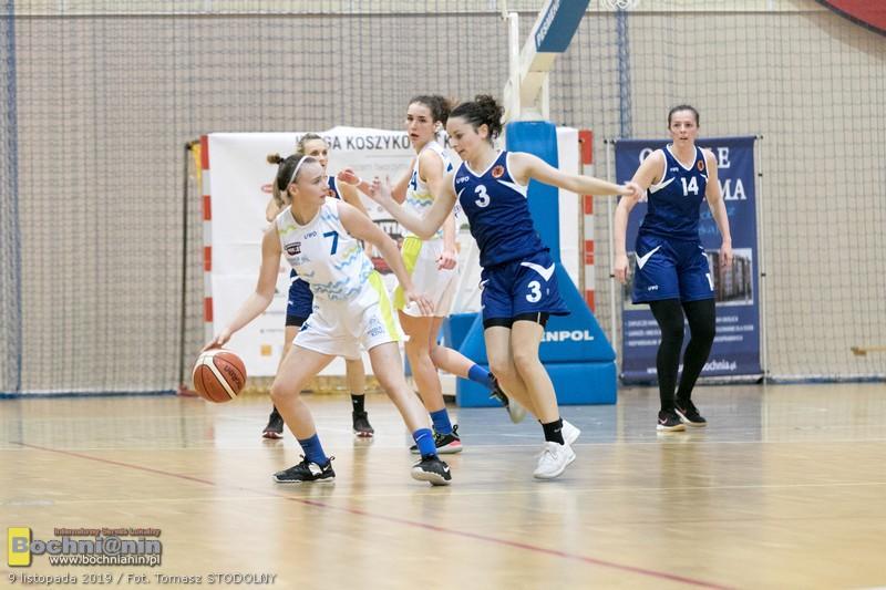 Po walce przegrywamy mecz na szczycie. Contimax MOSiR Bochnia – KK UR Kraków 45:51 / II liga koszykówki kobiet
