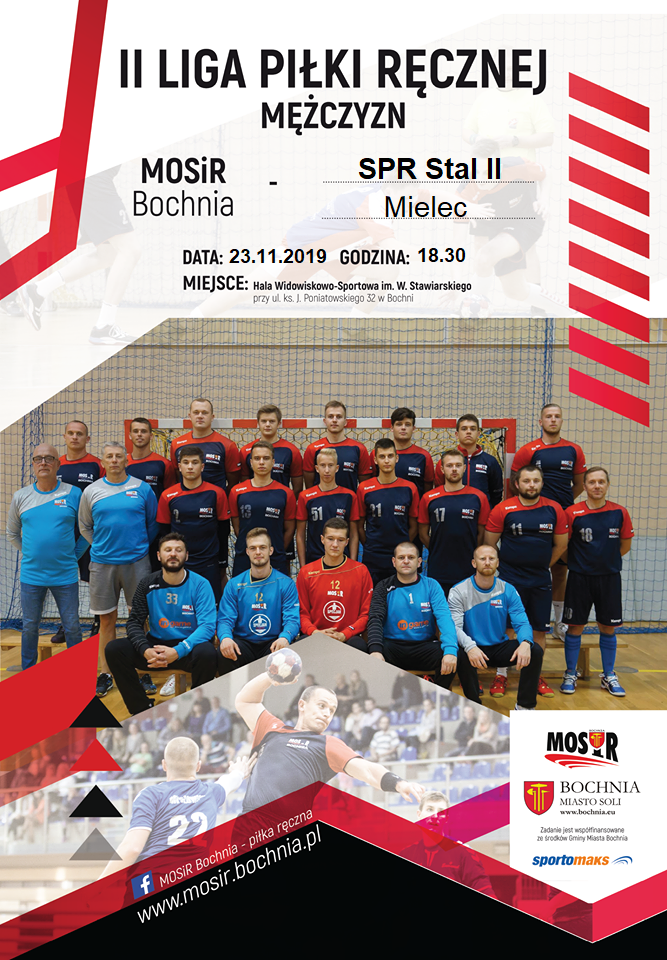 Zapraszamy na mecz MOSiR Bochnia – SPR Stal II Mielec w sobotę 23.11.2019 / II liga mężczyzn