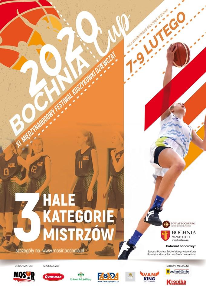 Harmonogram meczów XI Międzynarodowego Festiwalu Koszykówki Dziewcząt, Bochnia CUP 7-9.02.2020