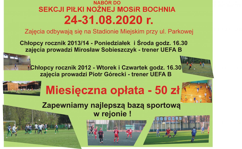Nabór do sekcji piłki nożnej MOSiR Bochnia – zapraszamy!