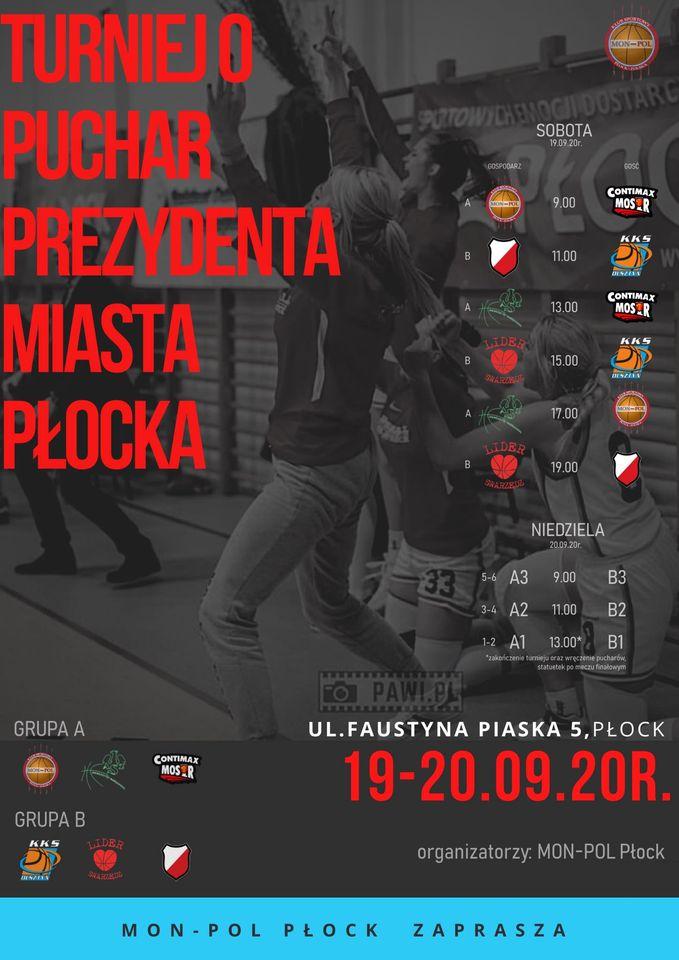 Contimax MOSiR Bochnia przed sezonem na IX Turnieju Koszykówki Kobiet w Płocku, 18-20.09.2020 – zapowiedź