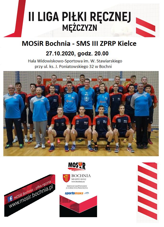 Oglądaj on-line II Ligę Piłki Ręcznej, mecz: MOSiR Bochnia – SMS III ZPRP Kielce; 27.10.2020