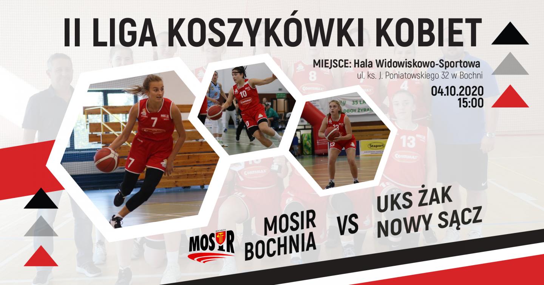 Dziś kibicujemy 2 Lidze Koszykówki Kobiet! Zapraszamy na mecz MOSiR Bochnia – UKS Żak Nowy Sącz!