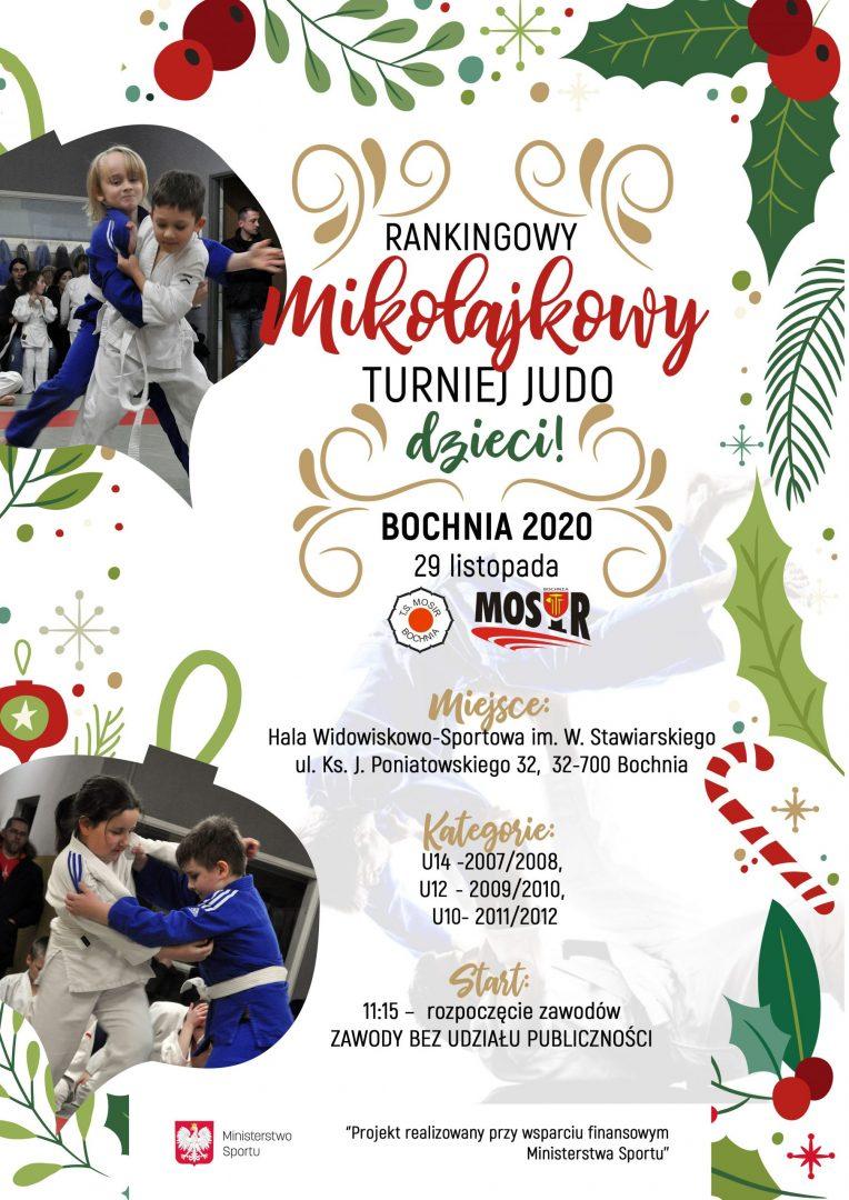 Rankingowy Mikołajkowy Turniej Judo Dzieci, Bochnia 29.11.2020 / transmisja online