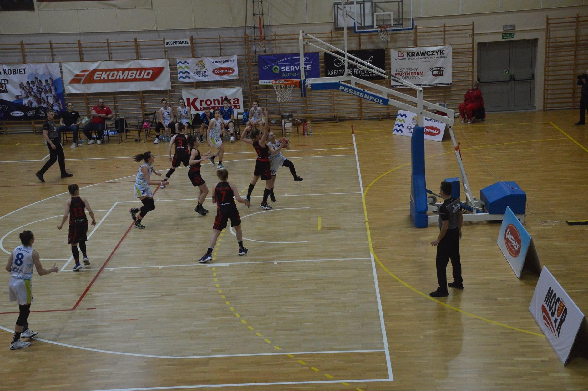 Mecz 1 ligi koszykówki kobiet Contimax MOSIR Bochnia - Lider Swarzędz