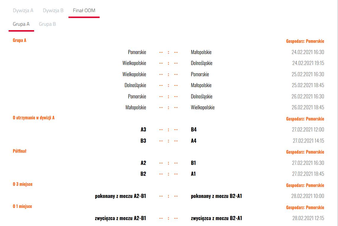 Kibicujemy drużynie Małopolski w finałach OOM, Człuchów 24-28.02.2021