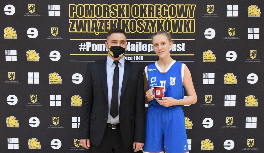 Kosz: Aleksandra Gołas MVP na OOM w Człuchowie, 02.2021