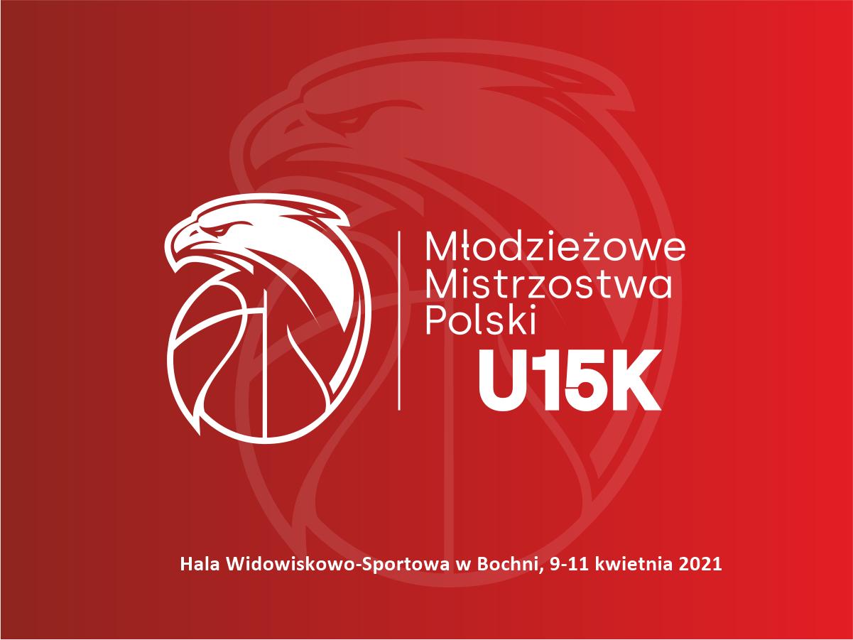 Logo MMP U15K z miejscem rozgrywek w Bochni, 9-11.04.2021