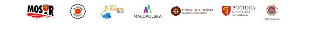 loga Organizatorzy-i-wspierajacy-XXVII-Memorialowego-Biegu-Majora-Bacy-01.08.2021-