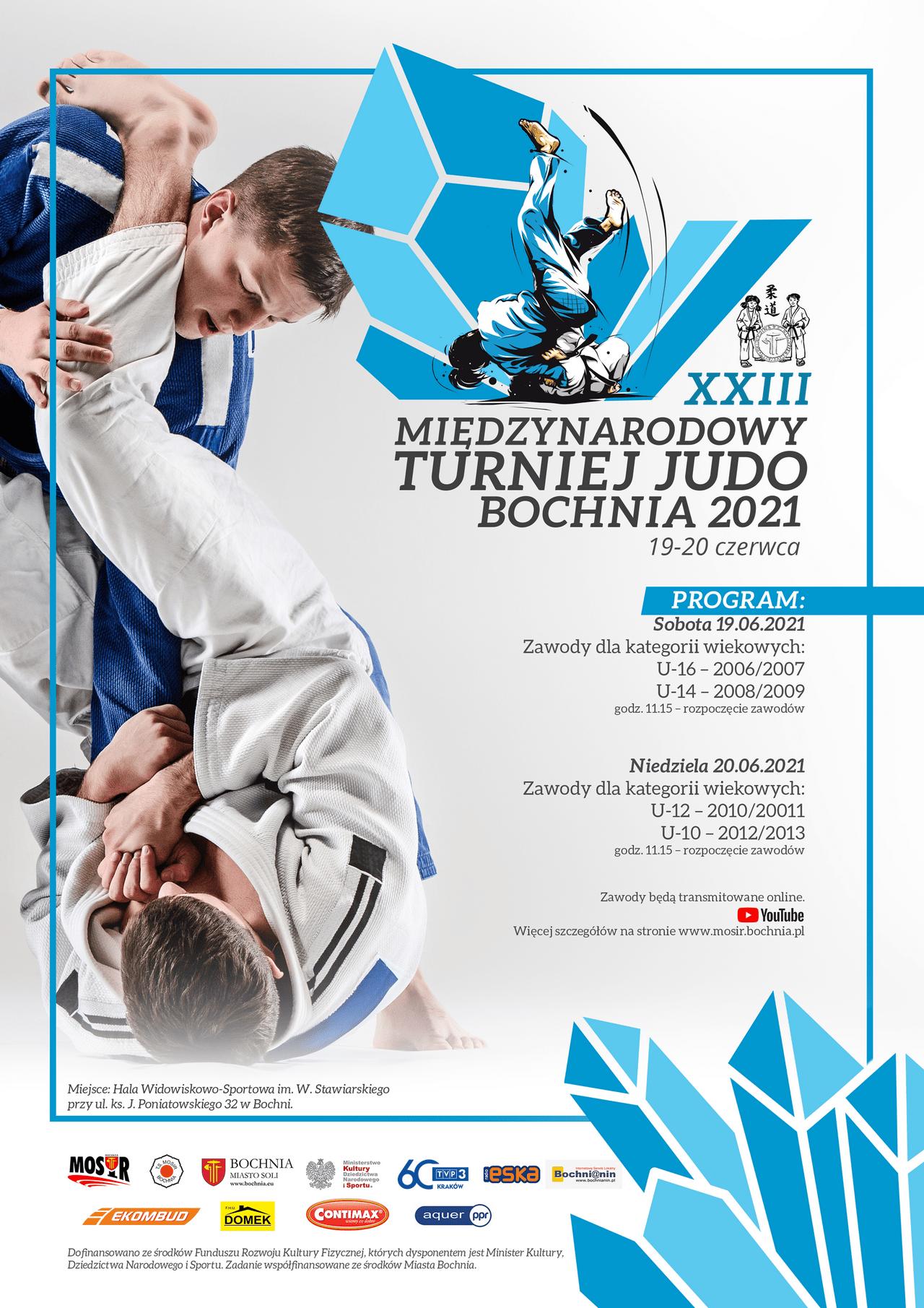 Plakat XXIII Międz. Turn. Judo 19-20.06.2021
