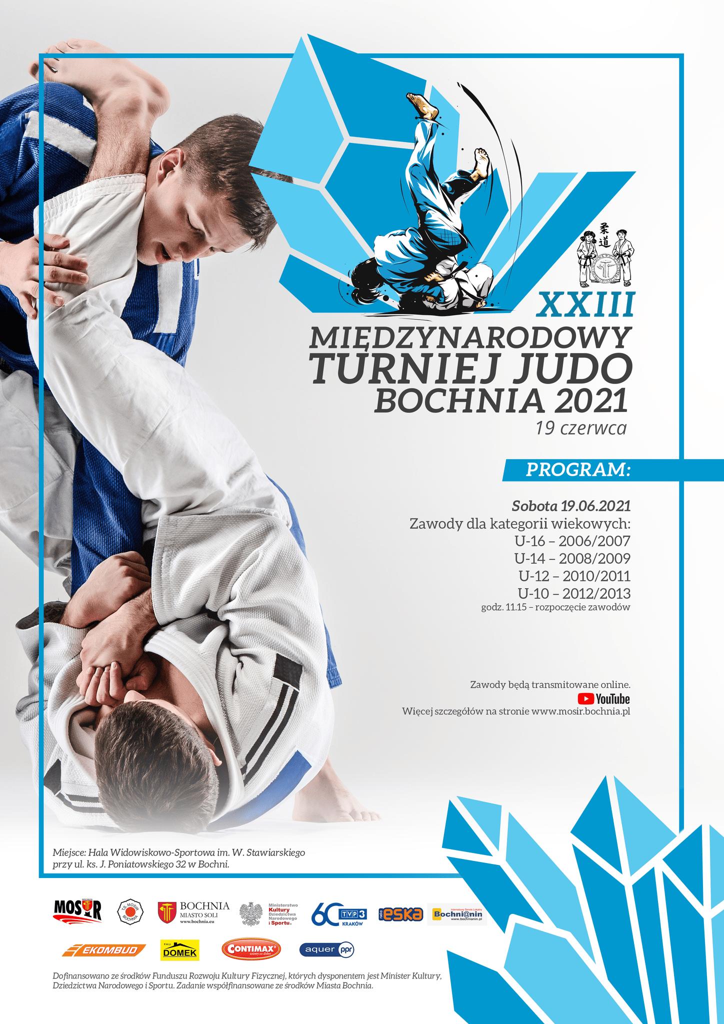 XXIII Międzynarodowy Turniej Judo w Bochni 19.06.2021