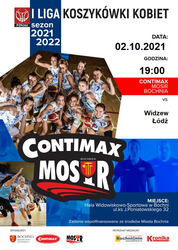 Zapraszamy na inaugurację rozgrywek 1 ligi koszykówki kobiet! Mecz: Contimax MOSiR Bochnia – Widzew Łódź