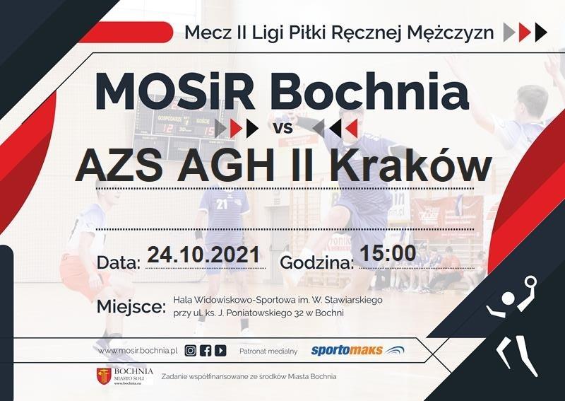 Zapraszamy na mecz: MOSiR Bochnia – AZS AGH II Kraków / II Liga Piłki Ręcznej Mężczyzn, 24.10.2021
