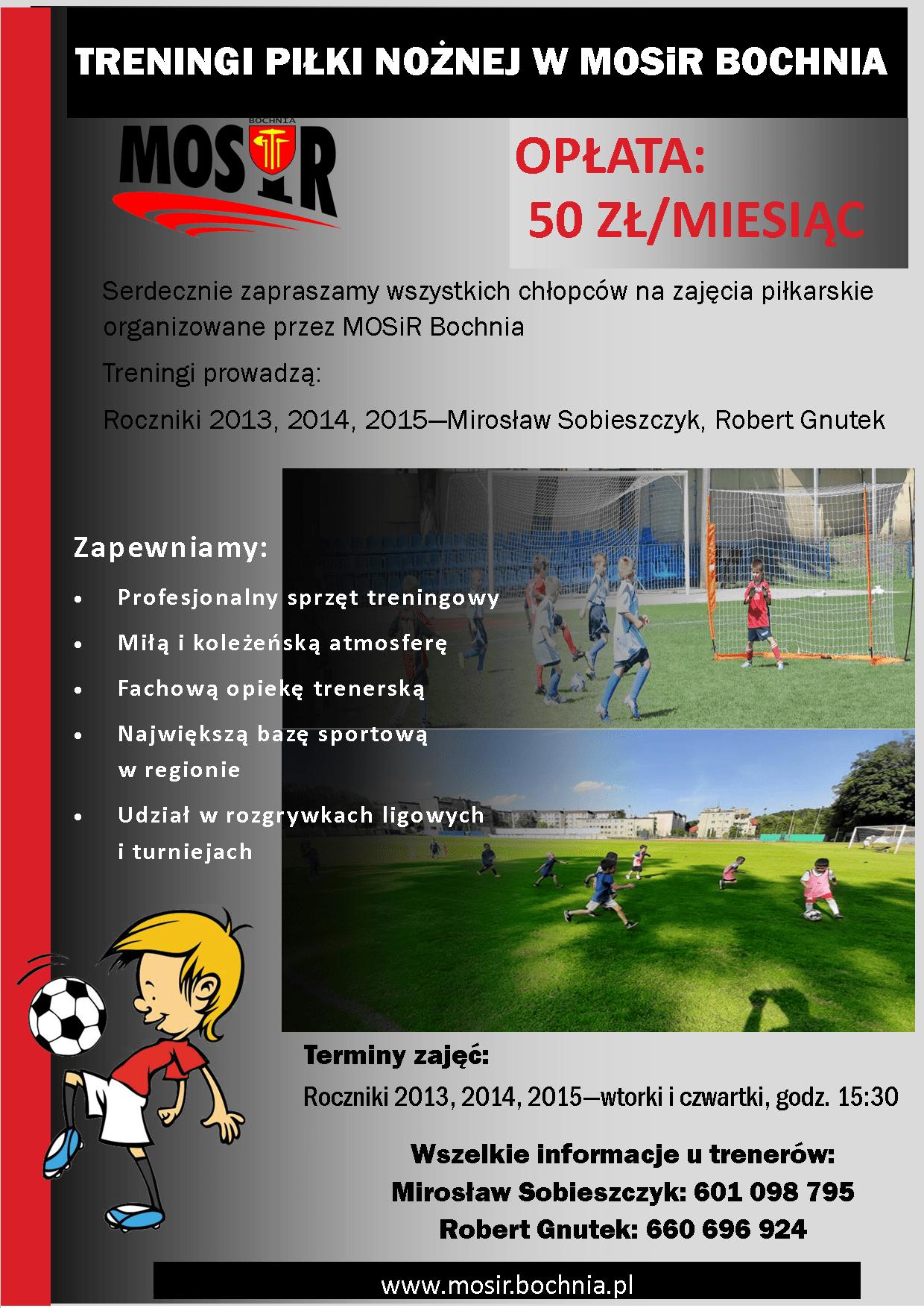 Zapraszamy chłopców z roczników 2013/14/15 na treningi piłki nożnej!